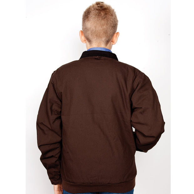 Just Country Boys Diamantina Jacket Chocolate BWOJ1201 back