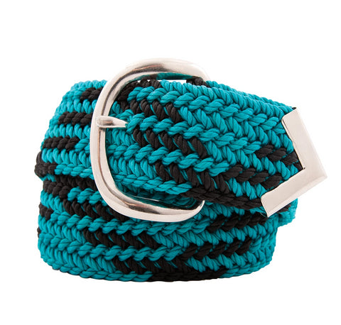 Nylon Web Belt Sea Green / Black