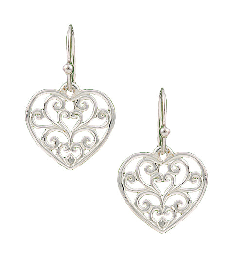 Petite Heart's Flame Lattice Earrings