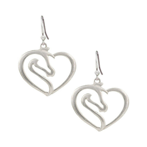 Montana Silversmiths Equestrian Heart Earrings ER2504