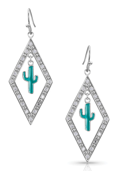 Montana Silversmiths Cactus in Lights Earrings ER4372