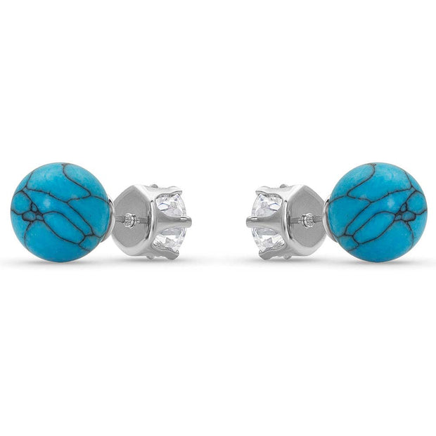 Montana Silversmiths Reversible Twinkle Turquoise Post Earrings ER4489 back