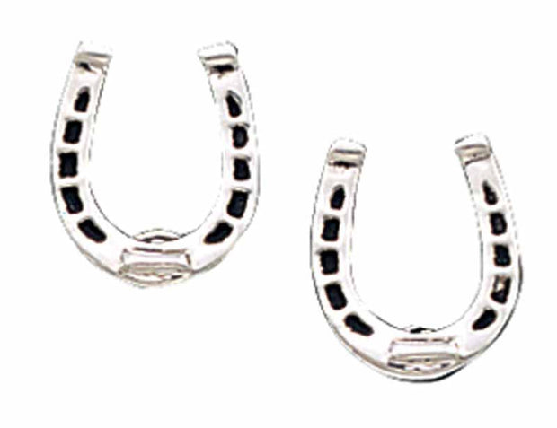 Montana Silversmiths Small Silver Horseshoe Earrings