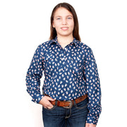 Just Country Girl's - Harper - 1/2 Button Navy Candy GWLS2034