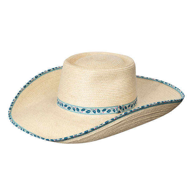 Sunbody Hats Ava Blue Leaves