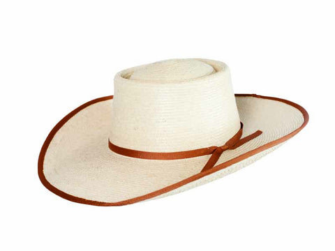 "Sunbody Hats Reata 4"" Brim Natural/Coffee Bound Edge"