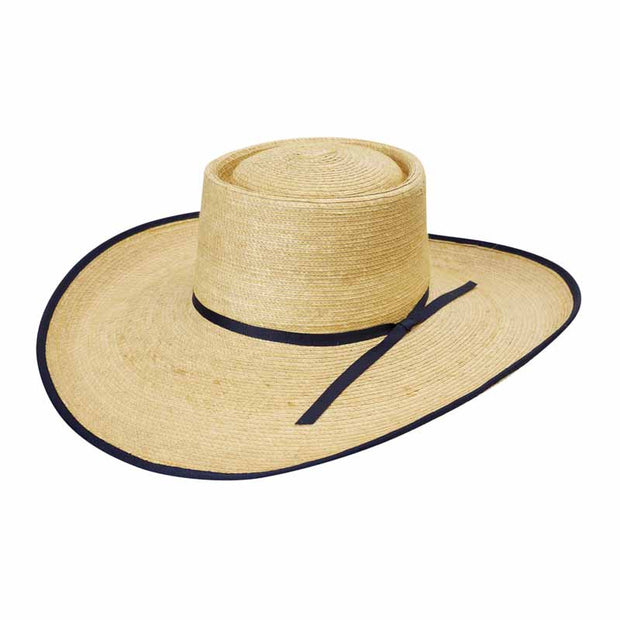 "Sunbody Hats Reata 5"" Brim Oak/Navy Bound Edge"