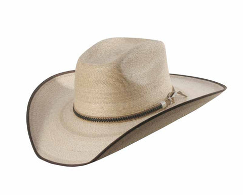 Sunbody Hats Boxtop Golden Mexican Palm Golden/Chocolate Bound Edge
