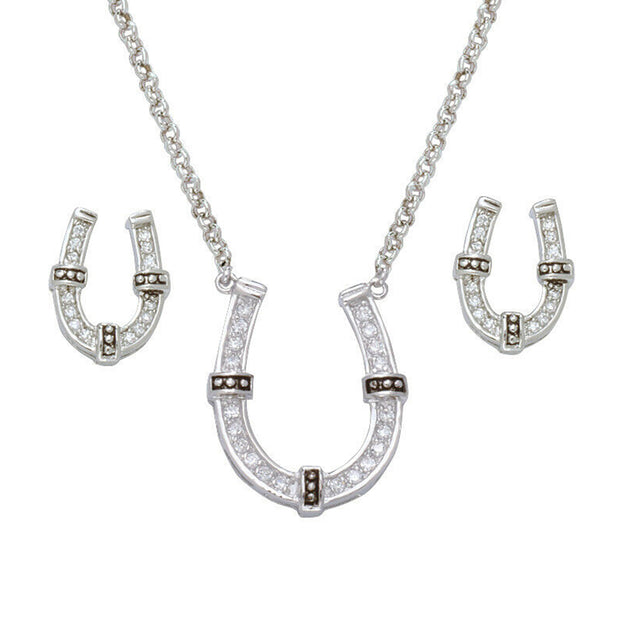Montana Silversmiths Sparkly Horseshoe Jewellery Set JS1187