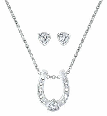 Montana Silversmiths Lucky Trillion Treasure Horseshoe Jewellery Set