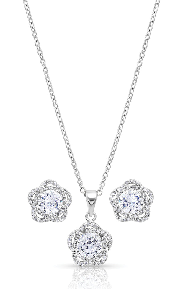 Montana Silversmiths Starlight Flower Jewellery Set