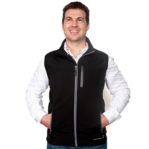 Just Country Men's Geoffrey Softshell Vest Black  MCOV1913