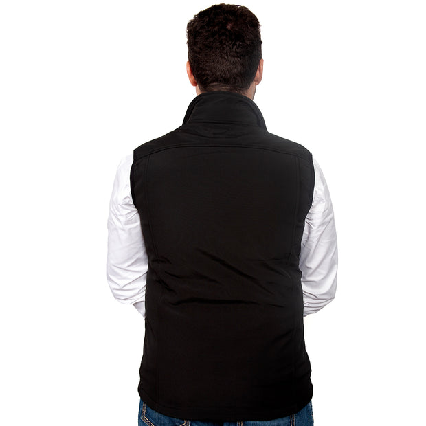 Just Country Men's Geoffrey Softshell Vest Black  MCOV1913 back