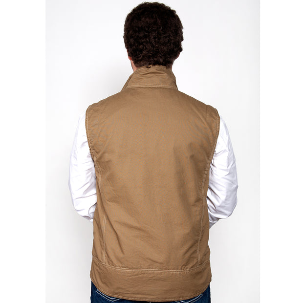Just Country Joshua Vest Khaki MCOV1914 back