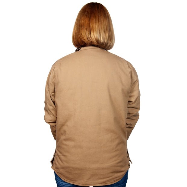 Just Country Diamantina Jacket Khaki MWOJ1914 Women back
