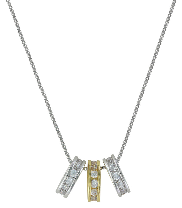 Montana Silversmiths Two Tone Triple Shine Necklace NC2748