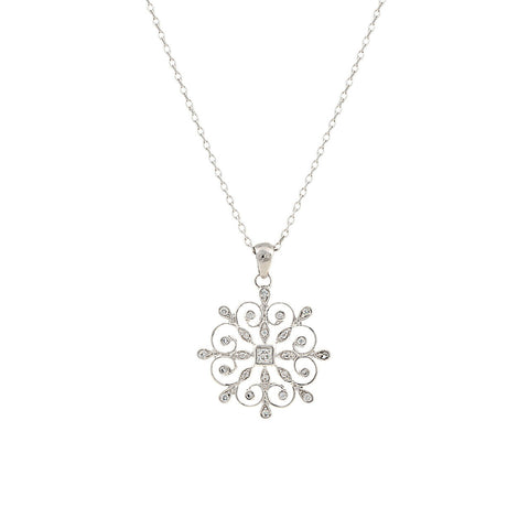 Montana Silversmiths A Perfect Snowflake Necklace NC2763