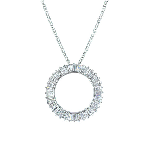 Twilight Halo Circle Necklace
