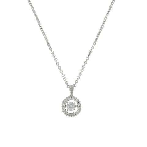 Dancing Halo Circle Necklace NC3869