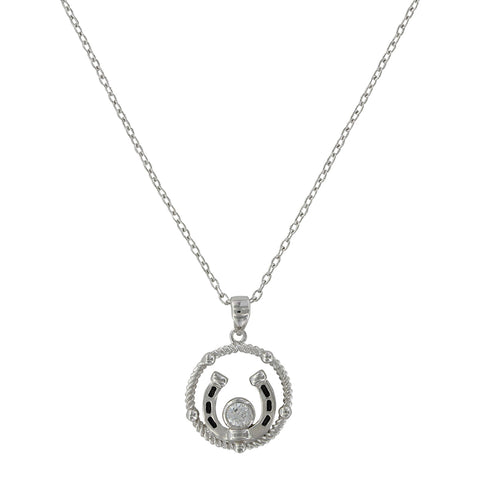 Montana Silversmiths Wreathed Horseshoe Treasure Necklace