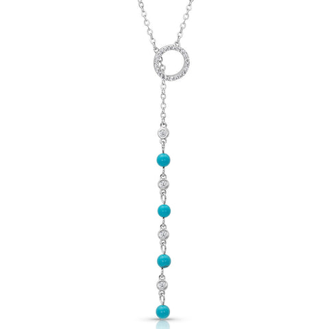 Montana Silversmiths Lariat Turquoise Drop Necklace NC4403