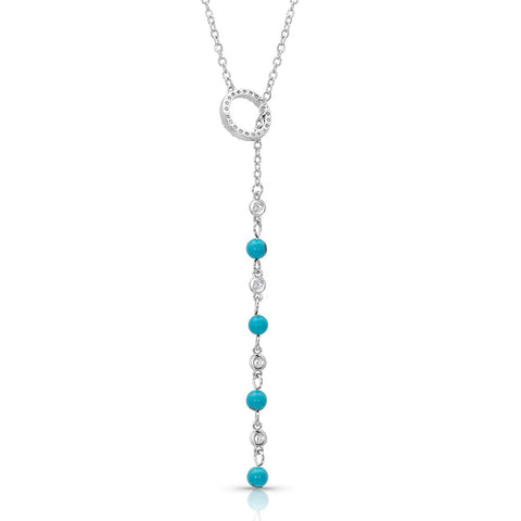 Montana Silversmiths Lariat Turquoise Drop Necklace NC4403 back