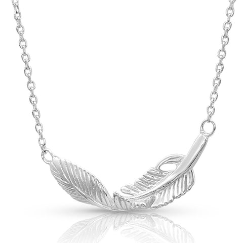 Montana Silversmiths Turning Feather Pendant Necklace NC4493