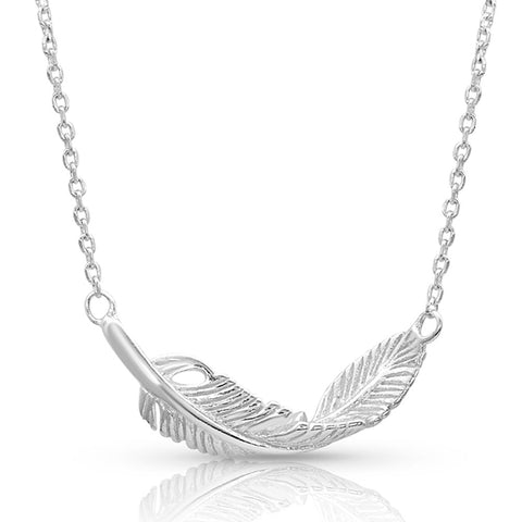 Montana Silversmiths Turning Feather Pendant Necklace NC4493 alt