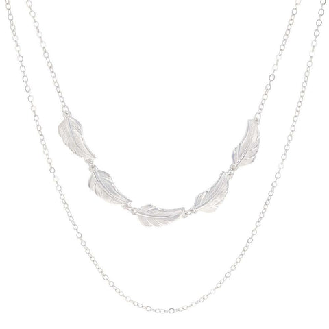 Montana Silversmiths Stronger Together Feather Multi-Chain Necklace NC4513