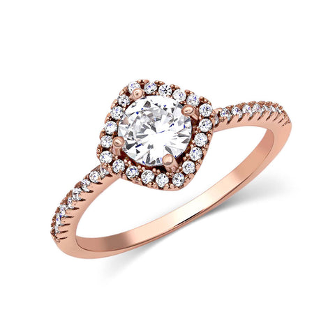 Montana Silversmiths Squarely Perfect Rose Gold Haloed Ring RG3183RG