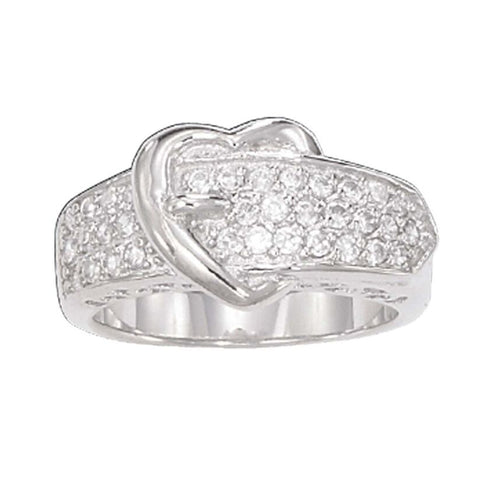 Montana Silversmiths Heart Shaped Buckle Ring RG5CZ