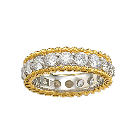 Crystal Shine in Gold Eternity Ring RG61490CZ