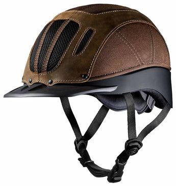 Troxel Sierra Riding Helmet Brown Distressed Leather