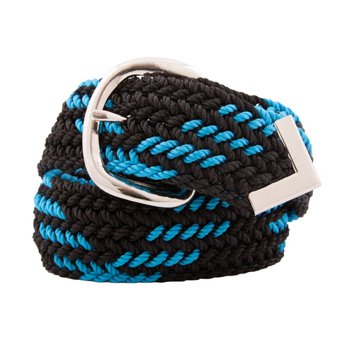 Nylon Web Belt Black / Turquoise