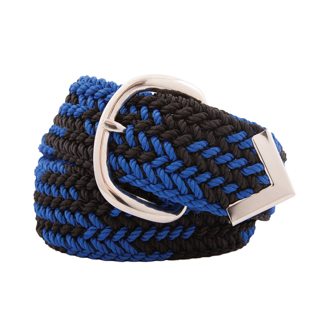 Nylon Web Belt Black / Royal Blue