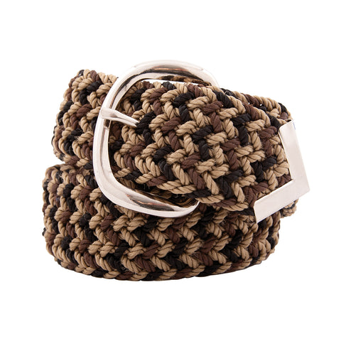 Nylon Web Belt Brown Camo