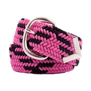 Nylon Web Belt Shocking Pink / Black