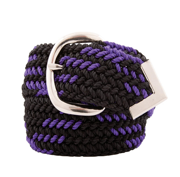 Nylon Web Belt Black / Purple