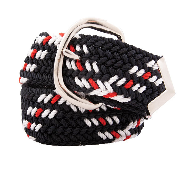 Nylon Web Belt Navy / White / Red