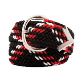 Nylon Web Belt Black / Red / White