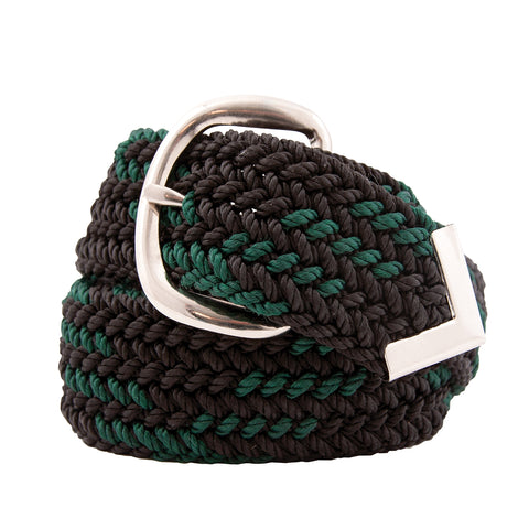 Nylon Web Belt Black / Hunt Green