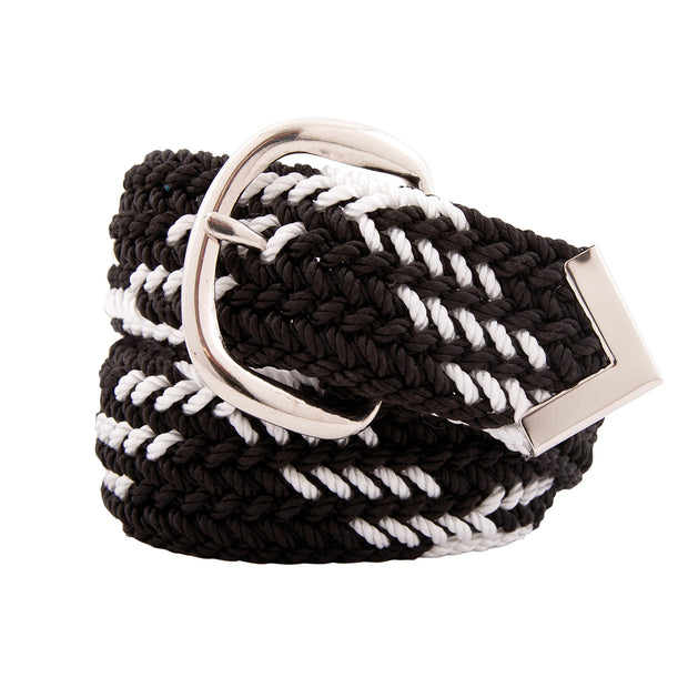 Nylon Web Belt Black / White