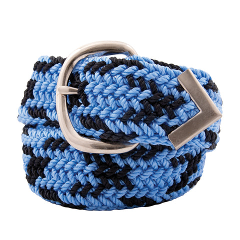 Nylon Web Belt Sky / Navy