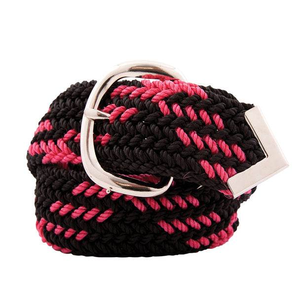 Nylon Web Belt Black / Raspberry