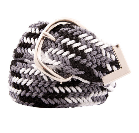 Nylon Web Belt Tri Grey