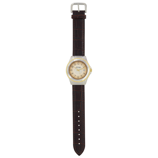Brown Bark Leather Watch