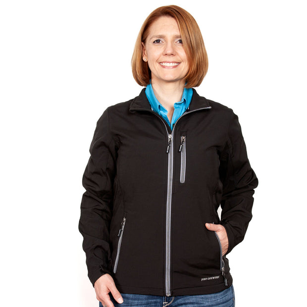 Just Country Francis Softshell Jacket Black WCOJ1913 front