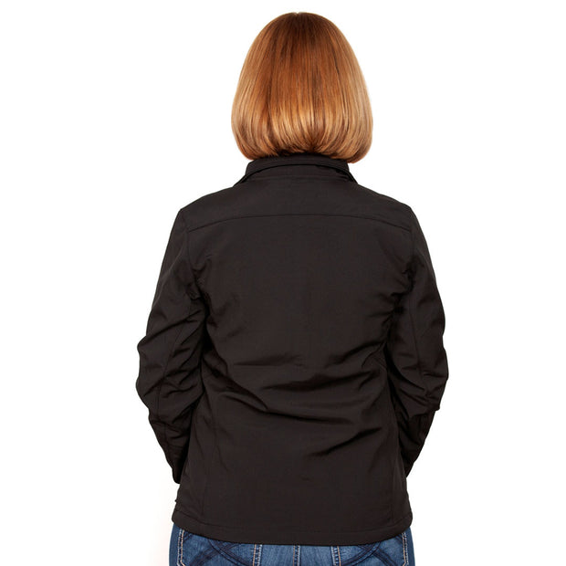 Just Country Francis Softshell Jacket Black WCOJ1913 back