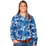 Just Country Women's - Abbey - Full Button Blue Leaved WWLS2029