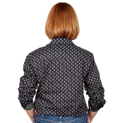 Just Country Women's - Abbey - Full Button Black Paisley WWLS2032 back